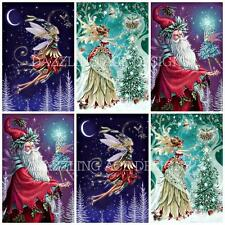 12 COOL YULE CHRISTMAS SANTA  Toppers, Embellishments, Card Making, Crafting