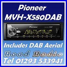 Pioneer MVH-X580DAB Mechless Bluetooth USB DAB/DAB+ Stereo Includes DAB Aerial