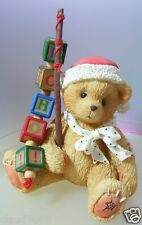 """CHERISHED TEDDIES   """"HOLDEN THE CHRISTMAS BEAR""""  176095  MINT IN BOX"""