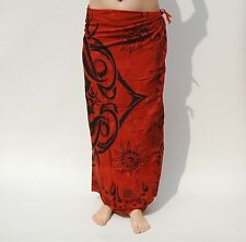 NEW UNISEX BROWN & BLACK CELTIC DESIGN SARONG BEACH POOL WRAP PAREO BNIP / sa042