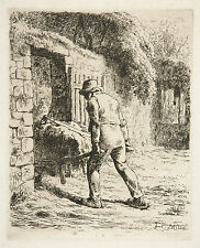 Jean Millet Reproduction: Peasant with a Wheelbarrow - Fine Art Print