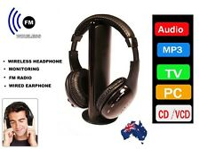 Cordless Headphones Wireless Earphone FM Radio TV Headset Wired Headphone