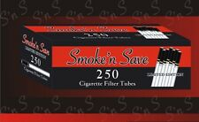 Bundle of 4 boxes/1,000 Smoke'n Save Limited Edition King Size cigarette Tubes