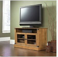TV Cabinet Storage Rustic Stand Media Console Entertainment Center Pine Wood
