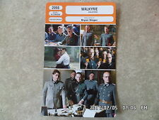 CARTE FICHE CINEMA 2008 WALKYRIE Tom Cruise Carice Van Houten Kenneth Branagh