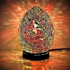Fabulous Mini Mosaic Glass Crackle Red/Gold Egg Table Lamp ,Desk ,Bedside LM77O