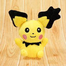 """6"""" Pokemon Pikachu With Charizard hat Plush Soft Toy Stuffed Animal Doll Hot"""