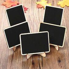10Pcs Mini Wooden Blackboard Chalkboard Message Labels Wedding Party Table Decor
