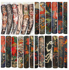 3pairs/lots Temporary Fake Slip On Tattoo Arm Sleeves Kit Colletion Set Outdoor