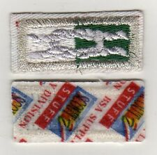 """Venturing Silver Award Knot, White Twill, """"Scout Stuff"""" Backing, Mint!"""