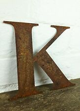 K Rusty Rusted Steel Metal Letter Industrial Sign Garden Decoration Ornament