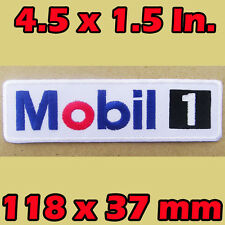 Mobil1 EMBROIDERED Iron on Patch Racing CHEVROLET FORD AUDI PORSCHE FERRARI Team