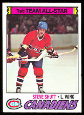 1977 78 OPC O PEE CHEE #120 STEVE SHUTT ALL STAR NM MONTREAL CANADIENS HOCKEY