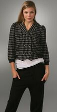 """MARC BY MARC JACOBS """"HANNAH"""" HOUNDSTOOTH CROPPED COTTON JACKET~NWOT~SMALL~$298"""