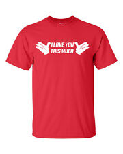 I Love You This Much Mickey Hands Valentine Day Love Men's Tee Shirt