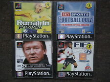 PS1 FOOTBALL GAMES PS1 PS2 PS3 Fifa/Ronaldo/Ferguson *Manuals Included*