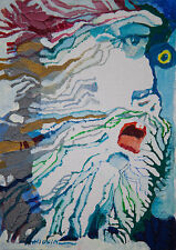 Mount Mongun-Taiga / Original Mixed Media On Canvas Board by Sergej Hahonin