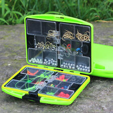 Portable Pocket Fishing Tackle Box Swivel Hook Beads Box Compartment Gear Box