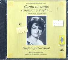 CLEOFE ARGUELLO GIHAUT Canta Tu Canto Ruisenor y Vuela CD NEW Sealed