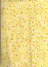 New Yellow Mini Stars 100% Cotton Flannel Fabric by the 1/2 Yard