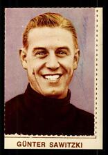 Günter Sawitzki  DFB Nationalspieler WM 1958 Original Signiert +A 129681