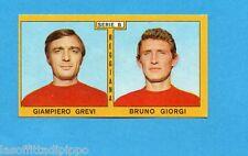 PANINI CALCIATORI 1969/70-Figurina- GREVI+GIORGI - REGGIANA -Recuperata