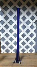 """30"""" BLUE Glass EIFFEL TOWER Vase * Wedding/Event Centerpiece"""