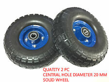 """2 pc x 3.10 """" - 4 """"  x (10"""") SOLID RUBBER  WHEEL""""S Tyre (20mm centre )-BRAND NEW"""