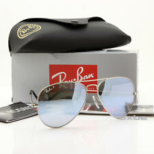 NEW AUTHENTIC RAY BAN AVIATOR RB3025 019/W3 58MM POLARIZED SILVER MIRROR LENS