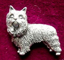 Pewter Yorkshire Terrier Brooch Pin  Quality