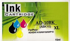 Advent ABK10 Black + ACLR10 Colour Compatible Ink Cartridges  For A10,AW10,AWP10