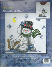 "Candamar Designs Wearables Snow Much Fun Snowman Counted Cross Sitch 8""x8"""