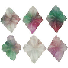 15X12MM CANDY JADE PURPLE GREEN WHITE DIAMOND FLOWERS