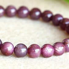 Natural Genuine Africa Starlight Shine Ruby Stretch Bracelet Round beads 6mm