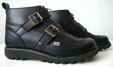KICKERS Leder Damen Stiefelette Schuhe Boots Gr.38 Schwarz NEU mit ETIKETT