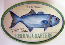 Deep Sea Fishing Wood Pub Sign