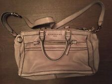 Liebeskind Gorgeous Light Grey Leather Satchel Bag large, perfect condition