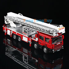 KDW Diecast Ladder Fire Truck Construction Vehicle Cars Model Toys 1:50 Scale
