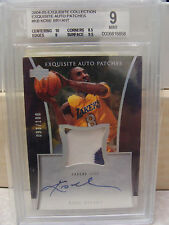 BGS 9 MINT 2004-05 UD Exquisite Collection Auto Patches Kobe Bryant #93/100