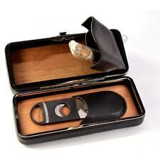 HUMIDOR SCATOLA CASSETTA PORTA SIGARI PORTASIGARI TAGLIASIGARI cigar case Q163