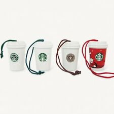Starbucks Japan 2011 Porcelain 4 LOGO CUP ORNAMENT Christmas Holiday Limited