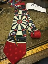 CARDS POKER DESIGNER DARTS CLUB DRESS SUIT NECKTIE TIE FREE SHIPPING