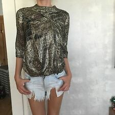 Authentic Isabel Marant lurex gold blouse Small