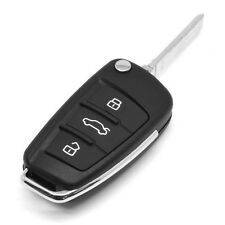 remote key shell case folding flip uncut blade 3 button for Audi A3 A4 A6 Q7 TT