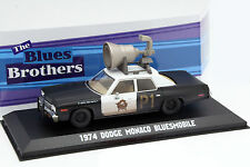 Dodge Monaco Bluesmobile Blues Brothers 1980 schwarz / weiß 1:43 Greenlight