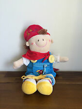 RUSS Berrie New Baby Boy Learning/Activity Doll Soft Plush Toy Farmer Billy