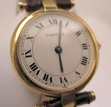 Elegant Rare Ladies CARTIER Paris Quartz White Dial 18 K SOLID GOLD Watch & Box
