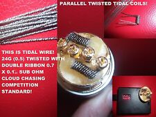 RDA Kanthal Parallel TIDAL COILS! - 4X COMPETITION COILS - 0.1 OHM AS DUAL