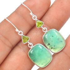 Chrysoprase 925 Sterling Silver Earrings Jewelry SE133935