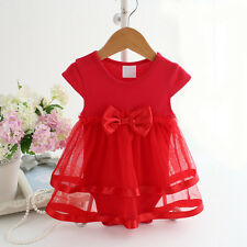 Baby Girl Clothes Newborn Kids Bebe Princess Tutu Bodysuit Playsuit Dress 6-9M